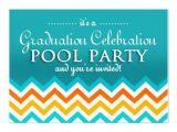 Graduation Pool Party Invitation Ideas Blue Graduation Pool Party Invitations