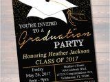Graduation Reception Invitations Editable Graduation Party Invitation High School Graduation