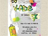 Graffiti Birthday Invitations Free Hip Hop Rockstar Graffiti Invitation by