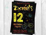 Graffiti Birthday Invitations Free Teen Boy Birthday Invitation Chalk by themintelephantprint