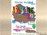 Graffiti Birthday Invitations Graffiti Invitation Graffiti Birthday by