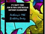 Graffiti Birthday Invitations Graffiti Letters Birthday Invitation