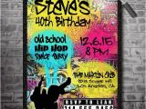 Graffiti Birthday Party Invitations 80 S 90 S Hip Hop Graffiti Birthday Invitations by