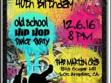 Graffiti Birthday Party Invitations 90s Hip Hop Graffiti Birthday Invitations [di 464