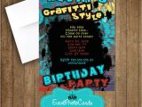 Graffiti Birthday Party Invitations Graffiti Invitations Teen Invites for Birthday Urban