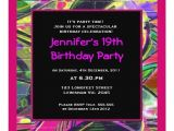 Graffiti Birthday Party Invitations Women Graffiti Birthday Invitation