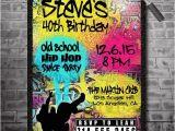 Graffiti themed Birthday Invitations 80 S 90 S Hip Hop Graffiti Birthday Invitations by