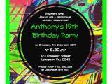 Graffiti themed Birthday Invitations Graffiti Birthday Invitation