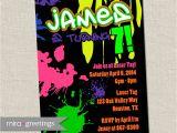 Graffiti themed Birthday Invitations Graffiti Birthday Party Invite 80s Birthday by Miragreetings