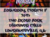 Graffiti themed Birthday Invitations Graffiti Invitations Personalized Party Invites