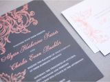 Gray and Coral Wedding Invitations Marrymoment Blog Modern Wedding Invitations and Weddi On