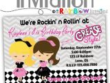 Grease Party Invites 795 Diy 1950 39 S Grease Style Party Invitation or Thank
