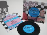 Grease Party Invites Funky Invitation Good Letter Press