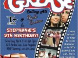 Grease Party Invites Grease 50s Fifties sock Hop Dance Birthday Party