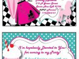 Grease Party Invites Grease 50s Personalized Invitation Thank You Card and