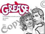 Grease Party Invites Grease Party Invitation Instant Download 1980s Retro Invite