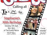 Grease Party Invites Grease themed Birthday Party Invitations Home Party