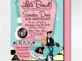 Grease Party Invites Pink Lady Grease Birthday Invitations 1950s Bowling Party