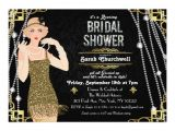 Great Gatsby Bridal Shower Invitations Great Gatsby Art Deco Bridal Shower Invitation Zazzle