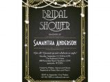 Great Gatsby Bridal Shower Invitations Great Gatsby Bridal Shower Invitation Art Deco Zazzle