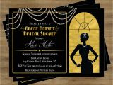Great Gatsby Bridal Shower Invitations Great Gatsby Invitation Gatsby Bridal Shower Invitation