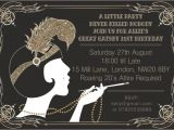 Great Gatsby Holiday Party Invitations 10 X Great Gatsby Personalised Birthday Party Invitations