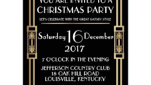 Great Gatsby Holiday Party Invitations Gatsby Classic Deco Christmas Party Invitations Paperstyle