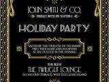 Great Gatsby Holiday Party Invitations Gatsby Holiday Party Invitation Black Gold Christmas Party