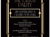 Great Gatsby Holiday Party Invitations Great Gatsby Party Invitation Template Cimvitation