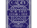 Great Gatsby Holiday Party Invitations Personalised Great Gatsby Style Party Invites Buzz Invites
