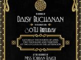Great Gatsby Party Invitation Wording Gatsby Invitation Art Deco Birthday Party or Bridal Shower
