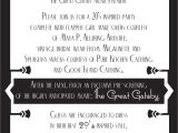 Great Gatsby Party Invitation Wording Great Gatsby Invitations Template Resume Builder