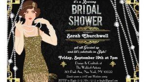 Great Gatsby themed Bridal Shower Invitations Great Gatsby Art Deco Bridal Shower Invitation