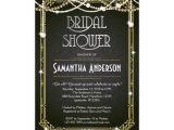 Great Gatsby themed Bridal Shower Invitations Great Gatsby Bridal Shower Invitation Art Deco