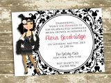 Great Gatsby themed Bridal Shower Invitations Great Gatsby Flapper Inspired Bridal Shower Party Invitation