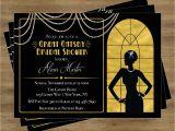 Great Gatsby themed Bridal Shower Invitations Great Gatsby Invitation Gatsby Bridal Shower Invitation