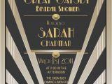 Great Gatsby themed Bridal Shower Invitations Items Similar to Great Gatsby Invitations