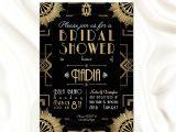 Great Gatsby themed Bridal Shower Invitations the Great Gatsby theme Bridal Shower Invitation