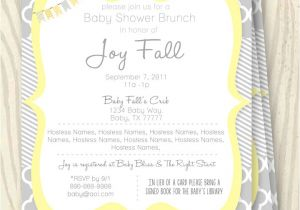Grey and Yellow Baby Shower Invites Yellow and Grey Baby Shower Invitation 5×7