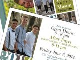 Group Graduation Party Invitations Custom High School Graduation Invitation Boy by