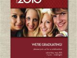 Group Graduation Party Invitations Items Similar to Red Graduation Invitation or Announcement
