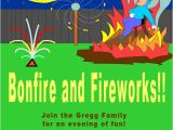 Guy Fawkes Party Invitations Bonfire and Guy Fawkes