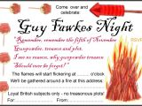 Guy Fawkes Party Invitations Guy Fawkes Night Party Invitation Rooftop Post Printables