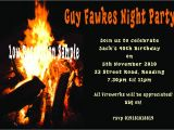 Guy Fawkes Party Invitations Real Bonfire Birthday Guy Fawkes