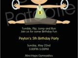 Gym Birthday Party Invitations 1000 Images About Gymnastics Party On Pinterest Party