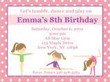 Gym Birthday Party Invitations 20 Personalized Birthday Invitations Pink Gymnastics
