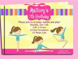 Gym Birthday Party Invitations Gymnastics Invitation Printable or Printed with Free Shipping