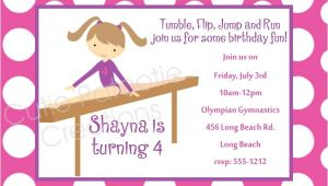 Gymnastics Party Invitations Free Printable 7 Best Images Of Gymnastic Birthday Invitations Printable