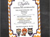 Halloween Birthday Party Custom Invitations Halloween Birthday Party Custom Printable Invitation by