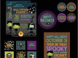 Halloween Birthday Party Custom Invitations Halloween Party Printable Kit Halloween Party Birthday